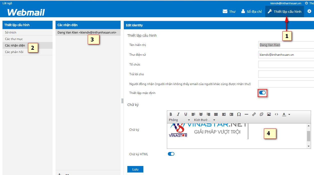 Hướng dẫn tạo chứ kỹ trong email chuyên nghiệp