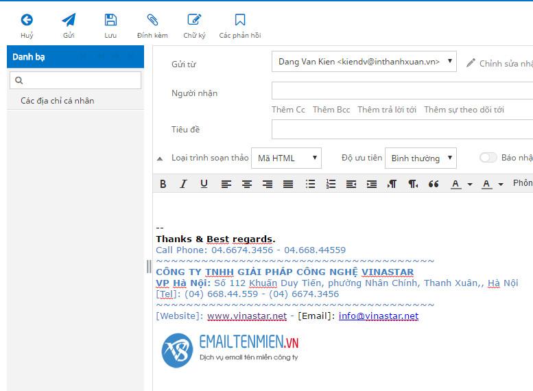 Hướng dẫn tạo chứ ký cho email
