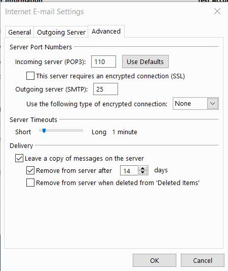 Cấu hình Mail Outlook 2013